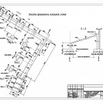 Опалубка фундаментов подпорной стенки. Сечение 2-2.